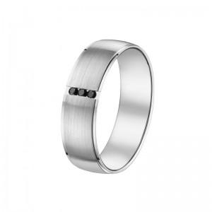 Alliance Or 750/1000 Diamant noir or blanc