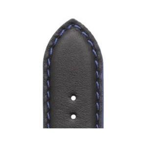 Bracelet Montre Veau NEPTUNE Noir 24mm Mat Etanche