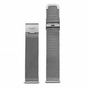 Bracelet Montre Cluse Minuit Strap 16mm Mesh Silver CLS345