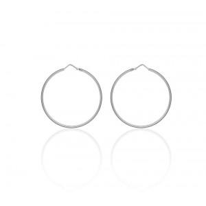 Boucles d'oreilles Argent 925/1000 Créole 50mm