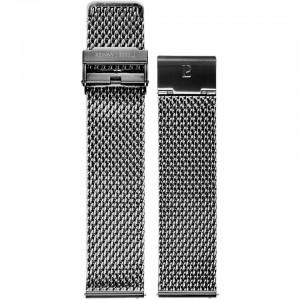 Bracelet Montre Acier Noir Milanais 22mm
