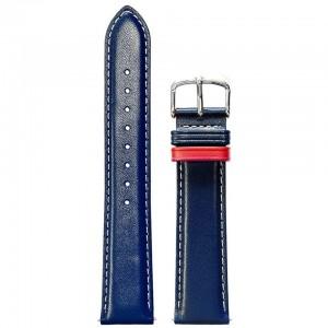 Bracelet Montre Cuir 20mm Bleu