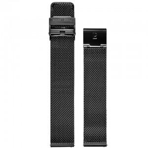 Bracelet Montre 18mm Acier Noir Milanais