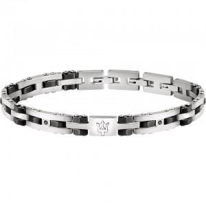 Bracelet acier MASERATI CERAMIC BLK STONE