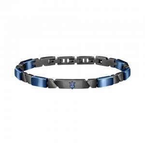 Bracelet acier MASERATI GUN BLUE CERAMIC 22CM