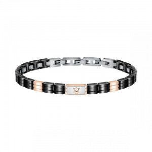 Bracelet acier MASERATI BLACK CERAMIC 22CM