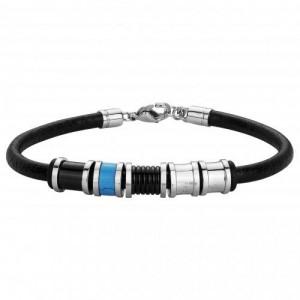 Bracelet Acier et Cuir