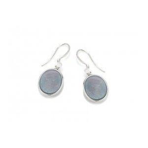 Boucles d'Oreilles Argent 925/1000 Pierre Naturelle Opale