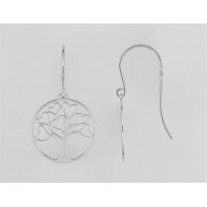 Boucles d'oreilles Argent 925/1000 Arbre de Vie