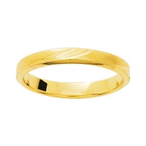 Alliance Or 750/1000 alliance or jaune 3mm trait vague