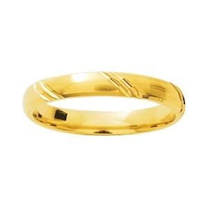 Alliance Or 750/1000 or jaune fantaisie trait oblique 3mm