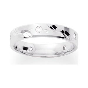 Alliance Or 750/1000 Diamant alliance or blanc et diamant 0.10ct