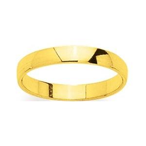 Alliance Or 750/1000 or jaune demi bombée 3mm