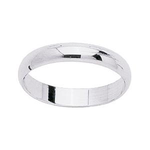 Alliance Or 750/1000 or blanc demi jonc 3.5mm