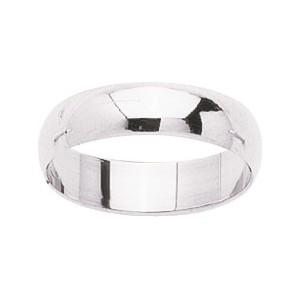 Alliance Or 750/1000 or blanc demi jonc 5mm