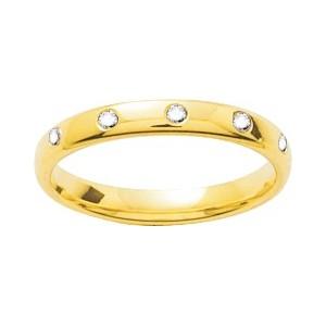Alliance Or 750/1000 Diamant de 0.05ct