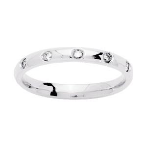 Alliance Or 750/1000 Diamant 0.10ct or blanc