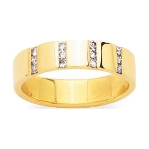 Alliance Or 750/1000 Diamant 0.18ct