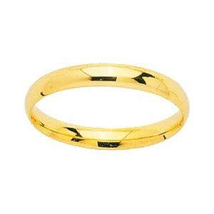 Alliance Or 750/1000 or jaune 3mm jonc parisien