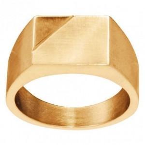 Chevalière Acier IPG Gold Taille 64