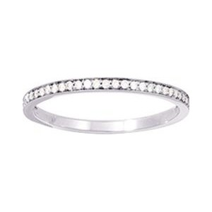 Alliance Or 750/1000 et Diamant 0.1ct Taille 54